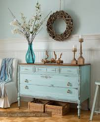 Furniture upcycling ideas Dresser Vintage Dresser Upcycled With Beachy Blue Paint The Spruce 25 Ways To Upcycle Your Dresser