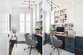 Office at home design Feminine Narrow Home Office Vanessa Francis Design The Spruce 27 Surprisingly Stylish Small Home Office Ideas