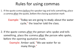 1 Quotes Learning Objective Use Commas Quotes In Writing Ppt