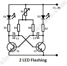 flashing led circuit 12 Volt Flasher Circuit Diagram 2 led flashing circuit schematic 12 volt led flasher circuit diagram