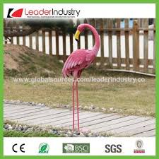 china best er decorative metal flamingo figurine with detailed fur effect for garden decorations