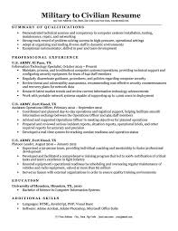 Military Resume Examples For Civilian Fascinating Military To Civilian Resume Sample Tips Resume Companion