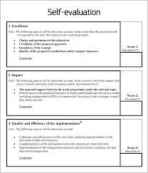 Assessment Example Gallery Of Self Evaluation Examples New Assessment Example Latter ...