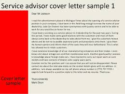 Service Advisor Cover Letter Project For Awesome Automotive Service