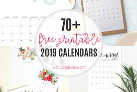 free calendar printable 2019 2019 free printable calendars lolly jane