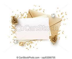 Golden Envelope And Blank Memo Paper Mock Up Design Template