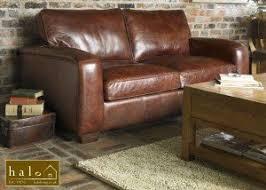 halo montana 2 seater leather sofa