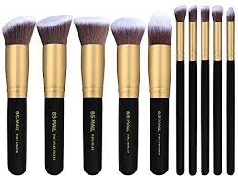 bs mall tm makeup brush set premium synthetic kabuki cosmetics foundation blending blush eyeliner face powder