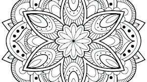 Printable Flower Mandala Coloring Pages Lotus Flower Coloring Page