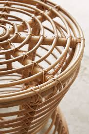 close shot rattan chair detail
