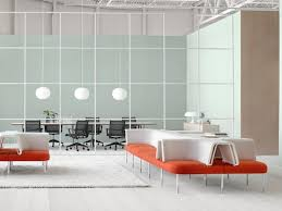 office orange. A Public Office Landscape Setting Featuring Configurations Of Orange And White Social Chairs To Support Casual R