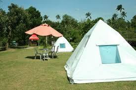 white diy tent