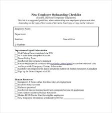 Onboarding Template Excel Popular Checklist Template Excel Example New Hire Samples Sample