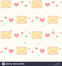 Cute Love Letters Cute Cartoon Yellow And Pink Love Letters With Hearts Seamless