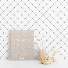 Grey and white self-adhesive wallpaper ...