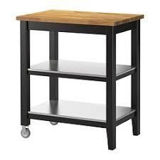 STENSTORP Kitchen cart, black-brown, oak