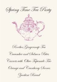 Tea Party Menu Template Magdalene Project Org
