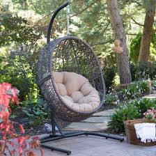 charming outdoor hanging chair with stand applied to your home concept island bay resin wicker