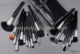 24 pcs set mac makeup brushes whole cosmetics brush sets