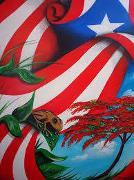 puerto rican flag on puerto rico san juan and