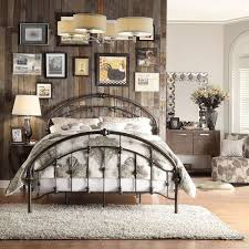 Details about Queen Bed Iron Vintage Antique Rustic Victorian Metal ...