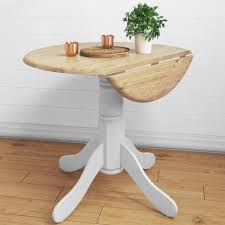 rhode island round drop leaf space saving dining table in white with remodel