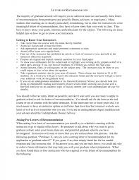 Sample Graduate School Recommendation Letter Powerful Portray Of