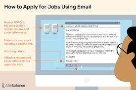 Resume Email Extraordinary How To Apply For Jobs Using Email
