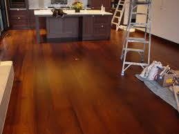 distressed dark wood floor. Wide Plank Dark Wood Flooring For Kitchen After Remodel With Brown Oak Island White Marble Countertop Ideas Distressed Floor