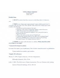 019 Research Paper Sample Article Critique Apa Format 129782 Papers