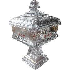 milk glass bowl table pedestal glass