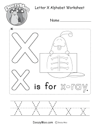 Looking for christmas coloring pages? Cute Uppercase Letter X Coloring Page Free Printable Doozy Moo