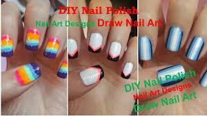 DIY Nail Polish Art Designs | Gel Nails Art Ideas | Acrylic Nails ...