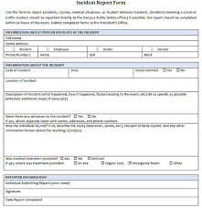 Incident Report Form Sample Free Filename New Company Driver