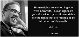 Human Rights Quotes Impressive Malcolm X Quote Human Rights Are Something You Were Born With