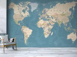 world map wallpaper wall murals
