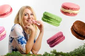 Image result for pic of people eating macaron