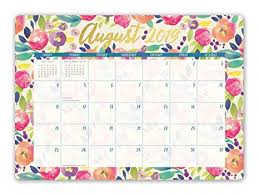 2020 16 Calendar Printable Orange Circle Studio 2020 Decorative Desk Blotter Calendar Bold Blossoms