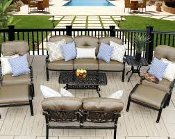 elisabeth 8pc deep seating set 1 sofa 1 loveseat 2 adjule club chairs 2 ottomans 1 21 x 42 coffee table and 1 square end table