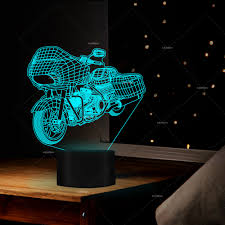 Design Led Gifts Us 15 49 Motor Designs Illusion Table Lamp Led 7 Changing Colors Room Decor As Motorcyclist Gifts For Men Memorial Gifts Personalized In Led Table