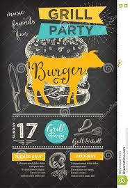 barbecue party invitation bbq template menu design food flyer barbecue party invitation bbq template menu design food flyer