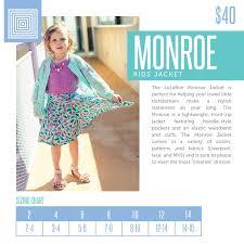 Lularoe Monroe Size Chart Check Out This Sizing Chart For The Lularoe Monroe Kids