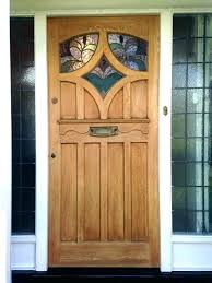 stained front door glass exterior inserts doors cool stain reclaimed