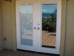 french patio doors with blinds inside glass