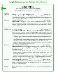 Hbs Resume Template Download Harvard Business School Resume Format