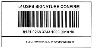 usps barcode format domestic mail manual s919 signature confirmation