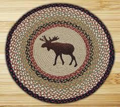 braided rug 27 round moose image to enlarge