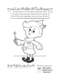 Small Picture Metropediatric Dental Coloring Activity Sheets Archives