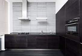 Modern black kitchen cabinets High Gloss Black Dark And Light Gray Modern Kitchen With Flat Panel Cabinetry Willie Homes 39 Modern Kitchen Design Ideas photos