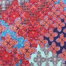 Abstract Moroccan Quilts   eBay & ANTHOLOGY Minka QUEEN QUILT SET 4pc NWT PILLOW Red Teal Purple MOROCCAN  FLORAL Adamdwight.com